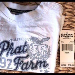 PHAT FARM NWT tee shirt with easy snap shoulder !